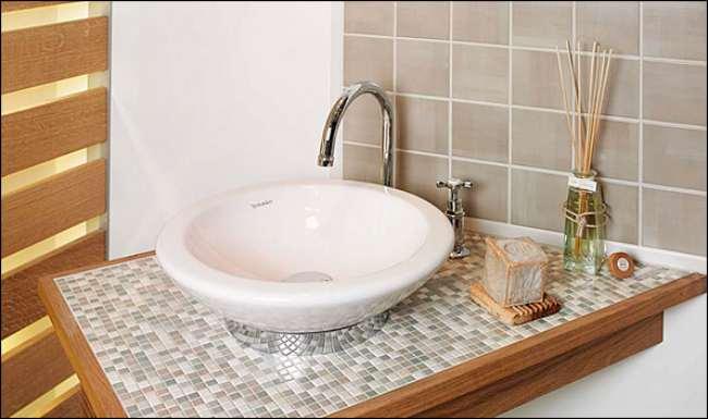 Arbeitsplatte Fliesen Waschtisch Fliesen Geflieste - Bad selber fliesen anleitung