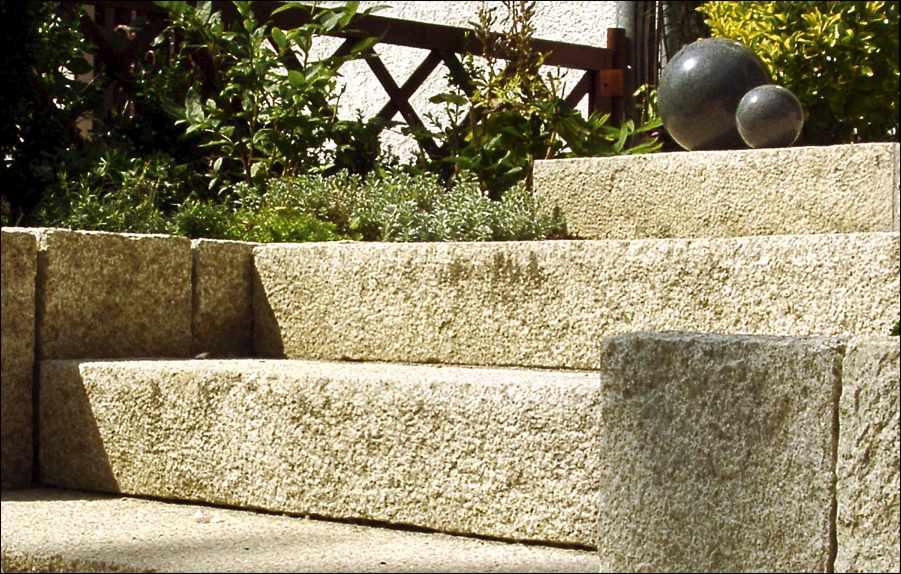 Gartenstufen Blockstufen Blockstufe Granit Stufen Garten