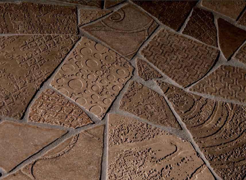 Bruchmosaik Bruchstein Fliesen Gebrochen Bruchfliesen Dekoration - Mosaik fliesen draußen