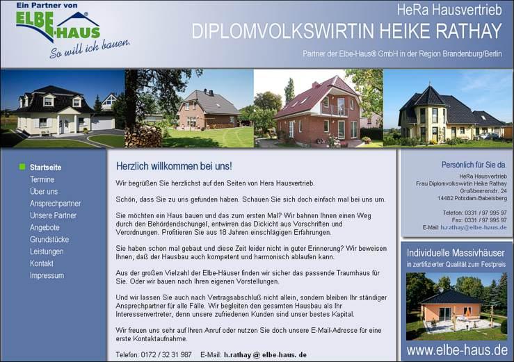 Elbe-Haus in Potsdam und Berlin Webseite
