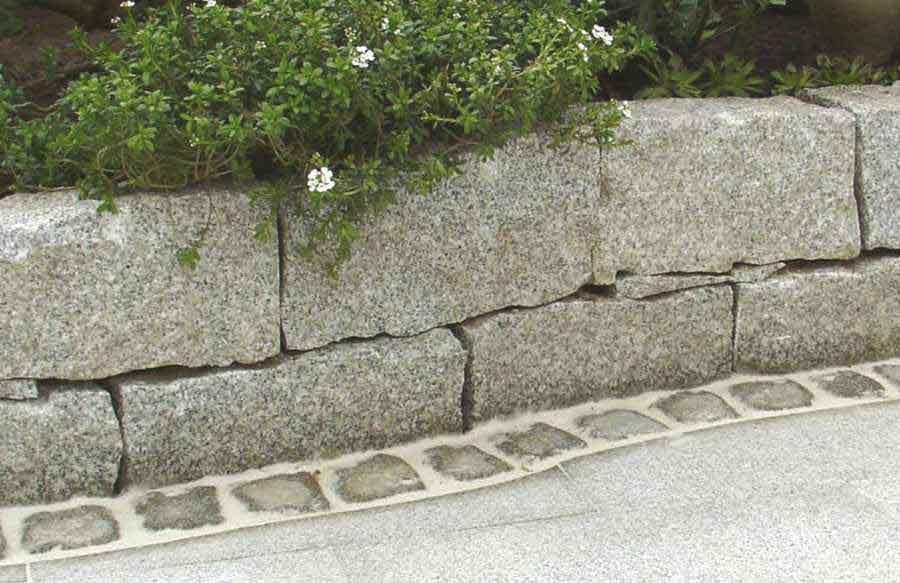 Natursteinmauer Gartenmauer Naturstein Wand, Granitsteine ...