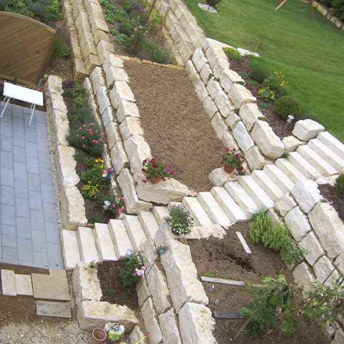 Gartenstufen Blockstufen Blockstufe Granitstufen Garten