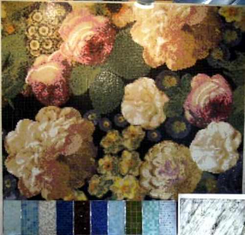 Mosaik aus Glas oder Keramik, Glasmosaik, Natursteinmosaik, Sicis, Bisazza Berlin, Potsdam Brandenburg Autor Siegfried Nolting
