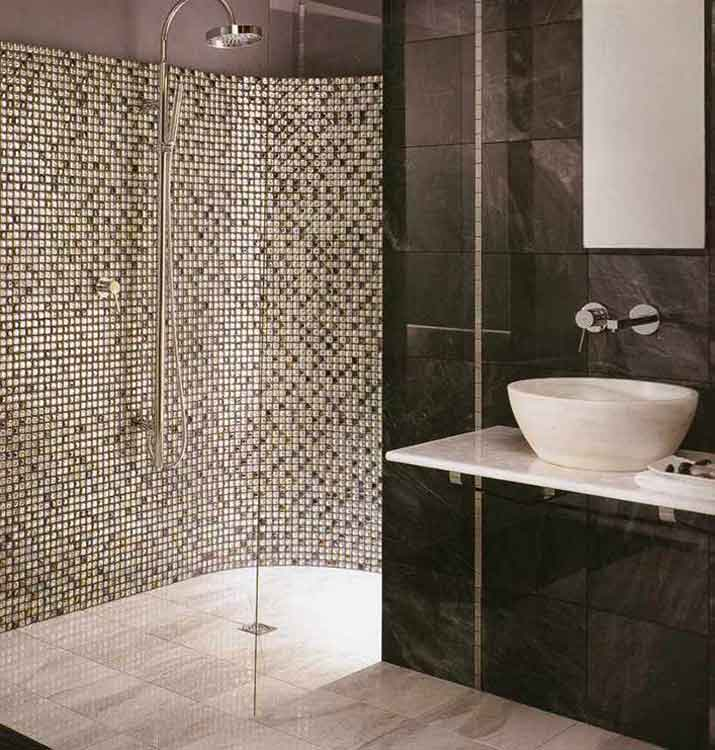 mosaikfliesen bad dusche. Black Bedroom Furniture Sets. Home Design Ideas