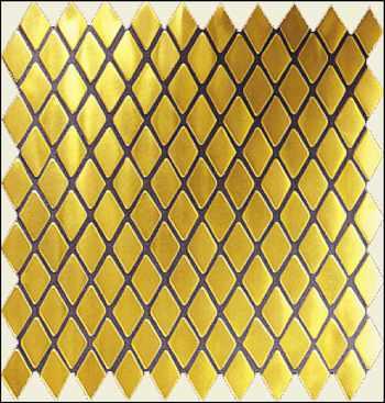 Gold Mosaik Rhombus, Gold Fliesen , Gold Wand, Gold Boden Bad Fliesen, Potsdam, Berlin, Brandenburg