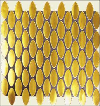 ... Potsdam Gold Mosaik, Gold Fliesen , Gold Wand, Gold Boden Bad Fliesen,  Potsdam, ...