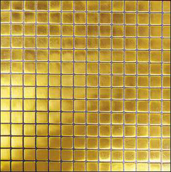 Gold mosaik fliesen bad for Quadrat innenarchitektur