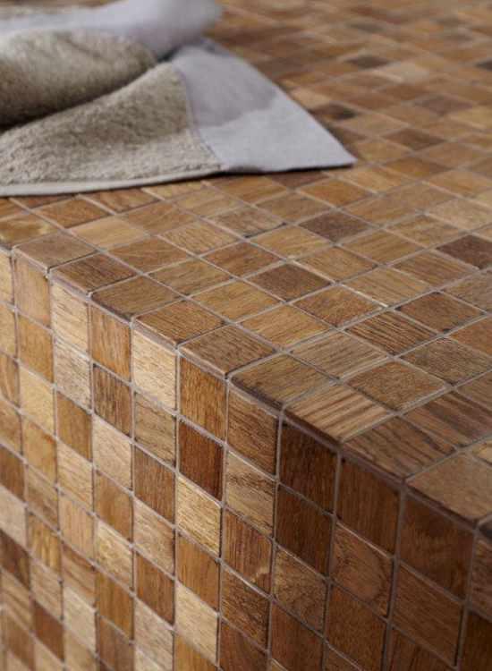 Holz Mosaik Fliesen Holzmosaik