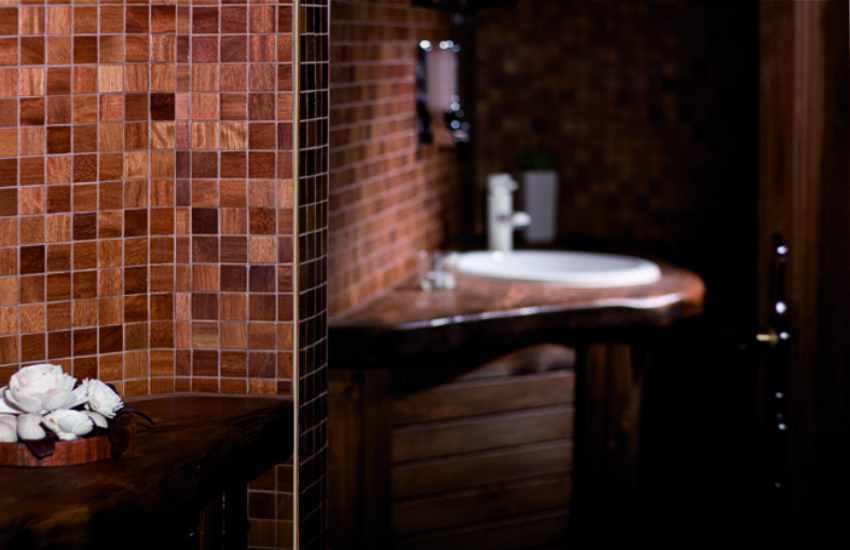 Holz Mosaik Fliesen, Holzmosaik Badezimmer Mosaik Holz