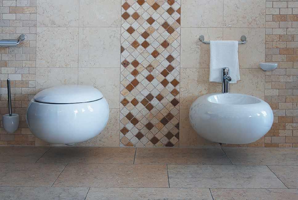Kalkstein fliesen platten mosaik mauer for Badezimmer mosaik bilder