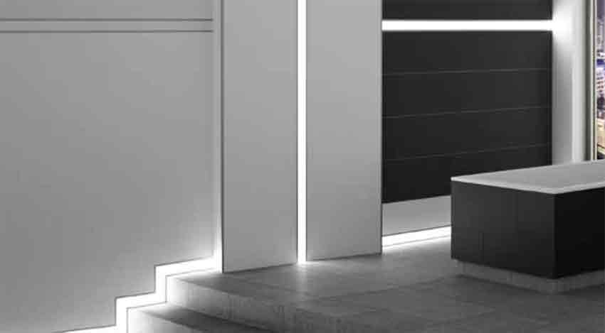 led lichtleisten profil bord re fliesen led profil. Black Bedroom Furniture Sets. Home Design Ideas