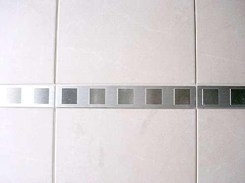 Metallfliesen Edelstahlfliesen Stahlfliesen Messing Fliesen - Klebe bordüre für fliesen