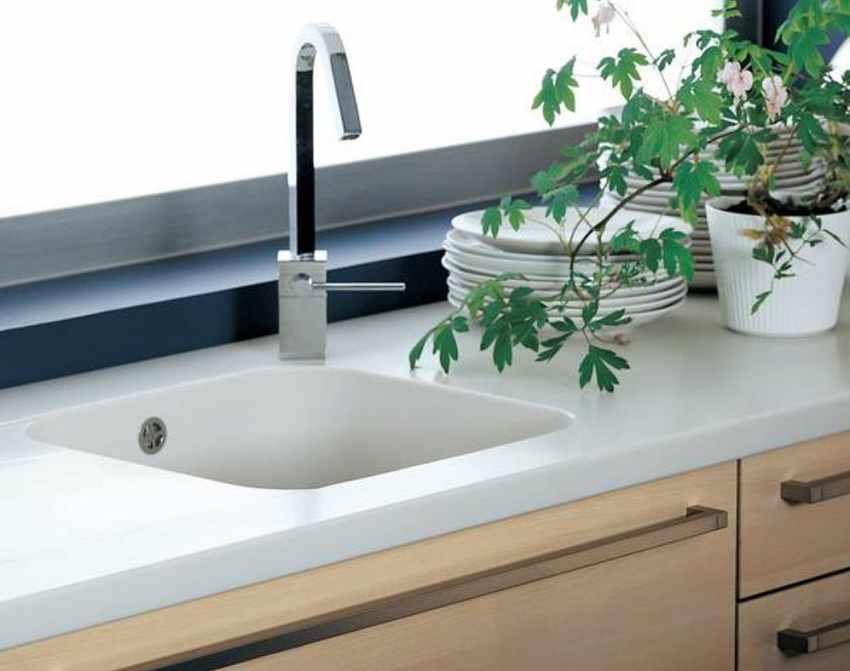 Mineralwerkstoff Becken Arbeitsplatten Und Waschtischplatten Aus