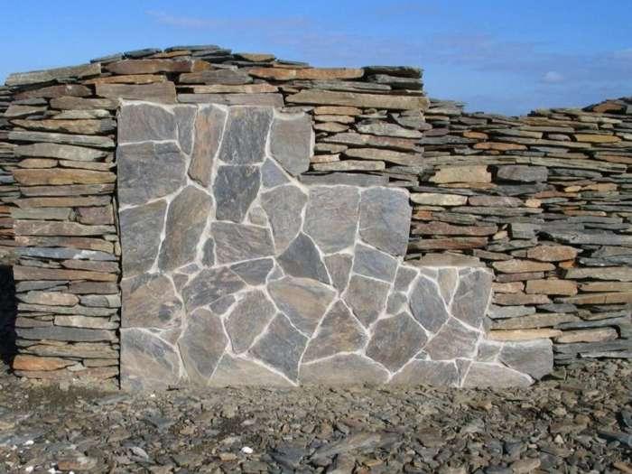 Polygonalplatten naturstein bruchplatten quarzit schiefer sandstein marmor kalkstein - Steine auf wand kleben ...