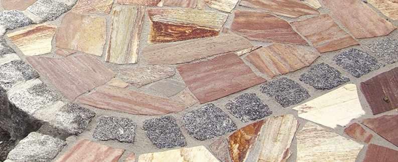 Polygonalplatten Bruchplatten Naturstein Porphyr Quarzit Wand