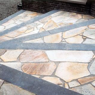 Naturstein Polygonalplatten Quarzit gelb Schiefer, Kalkstein, Sandstein, Polygonalplatte Terrasse, Bruchplatten Berlin, Potsdam, Brandenburg