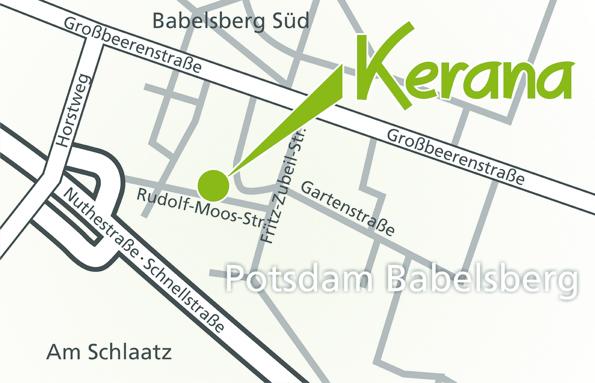 Anfahrt Badausstellung Kerana in Babelsberg