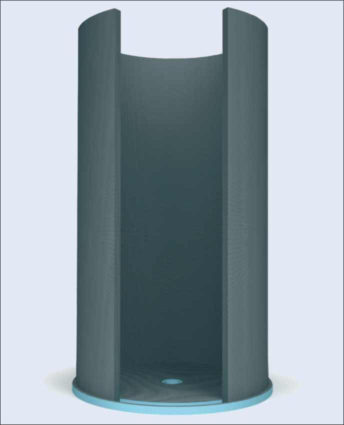 Runde Duschen Selbst Bauen : befliesbare Runddusche, Schneckendusche, Fondo Bausatz Runddusche und