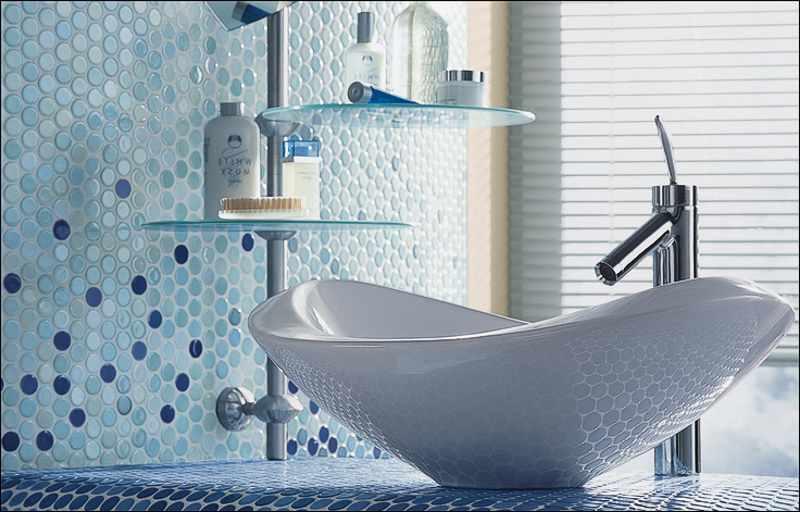 Jasba Knopfmosaik, Rundmosaik blau für Badezimmer kaufen, Preis Berlin, Potsdam, Brandenburg