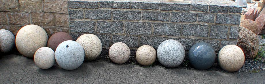 Granitkugeln, Granitkugel, Kugel Granit Steinkugel, Steinkugeln ...