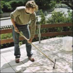 terrassenplatten fliesen terrassenfliesen terrassone lose verlegung granulat aufgeklebt. Black Bedroom Furniture Sets. Home Design Ideas