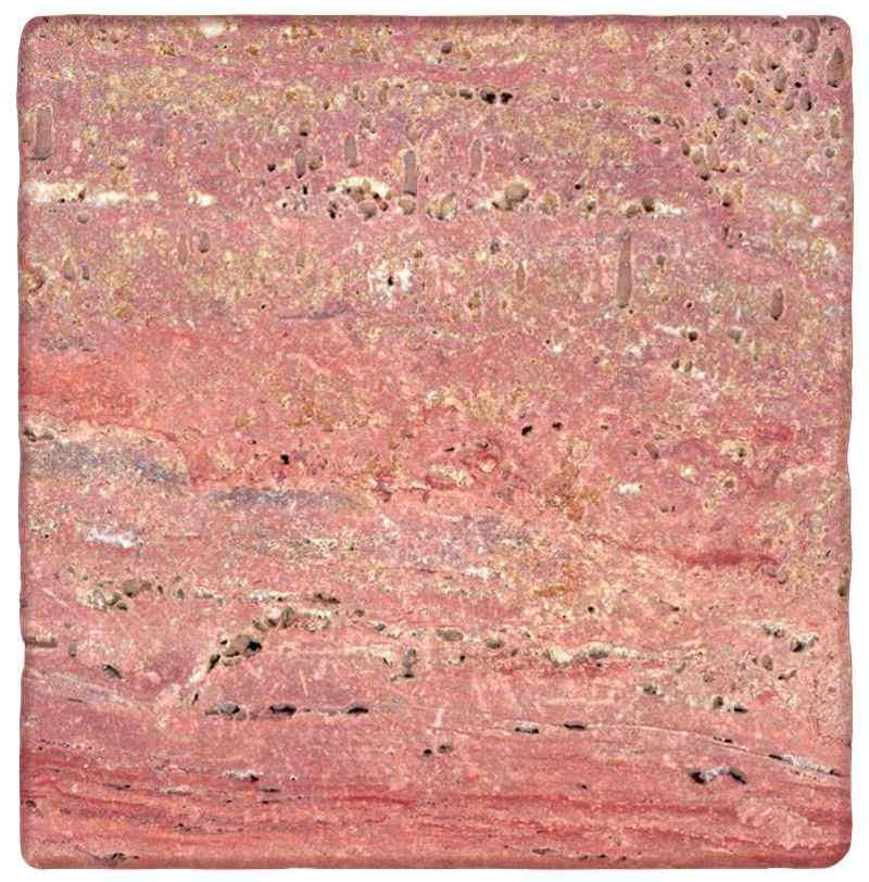 Naturstein, Steine Travertin rosso rot Antik bearbeitet, Travertin Terrassenplatten, Berlin, Potsdam, Brandenburg