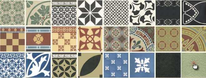 Zementfliesen Zementmosaikplatten Dekore Muster Via