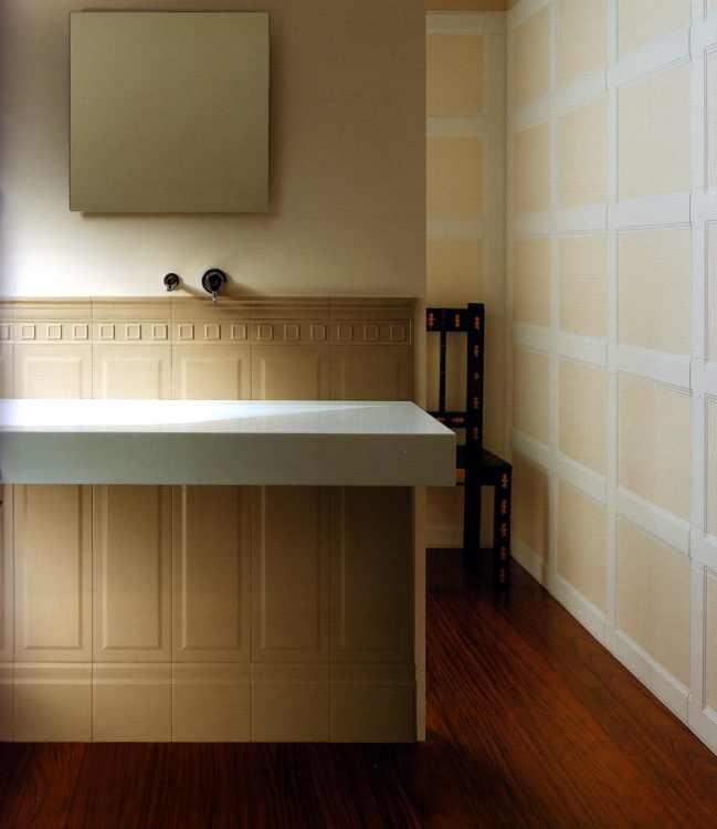 keramisches wandpanel fliesen wandverkleidung flur. Black Bedroom Furniture Sets. Home Design Ideas