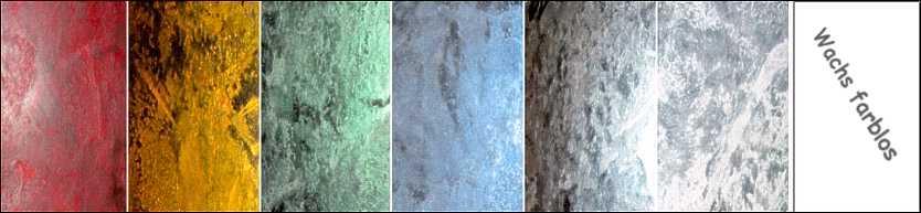 Stucco Pompeji Farbübersicht, Farben für Wandputz Berlin, Potsdam, Brandenburg