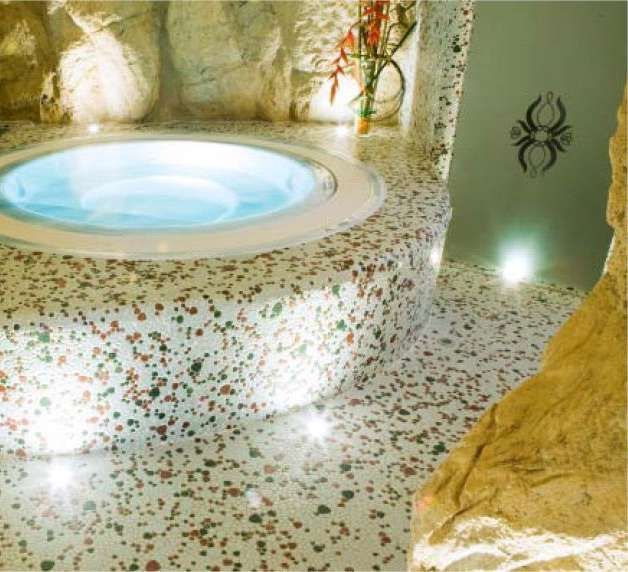 Wellness fliesen naturstein dampfbad badezimmer fliese for Mosaik fliesen bad bilder