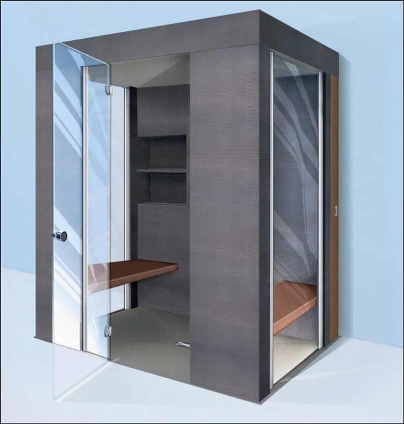 dampfdusche dampfsauna als fertiges wellnesobjekt. Black Bedroom Furniture Sets. Home Design Ideas