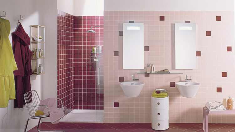 Farbige fliesen und mosaik fliesenfarben fliesen ral farben einfarbige fliesen berlin - Badezimmer rosa ...