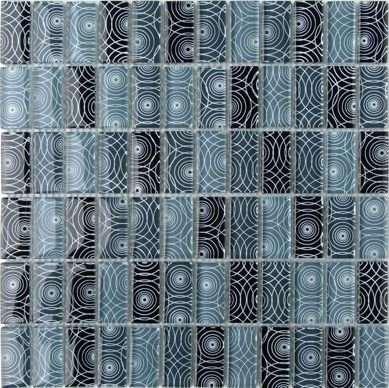 Glasmosaik, Glasbordüre, blau grau Fliesen Glas Mosaik, Mosaik Glas, Glasmosaikfliesen Berlin, Potsdam, Brandenburg