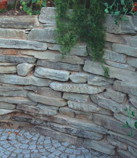 Naturstein, Natursteinmauer, Trockenmauer Sandstein, Kalkstein und Quarzit, Natursteinhandel, Natursteinmarkt Berlin, Potsdam Brandenburg Autor Siegfried Nolting