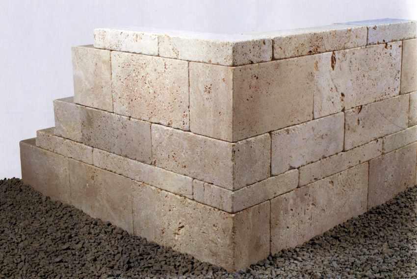 naturstein-mauer, steinmauer, mauer aus naturstein kalkstein, Garten Ideen